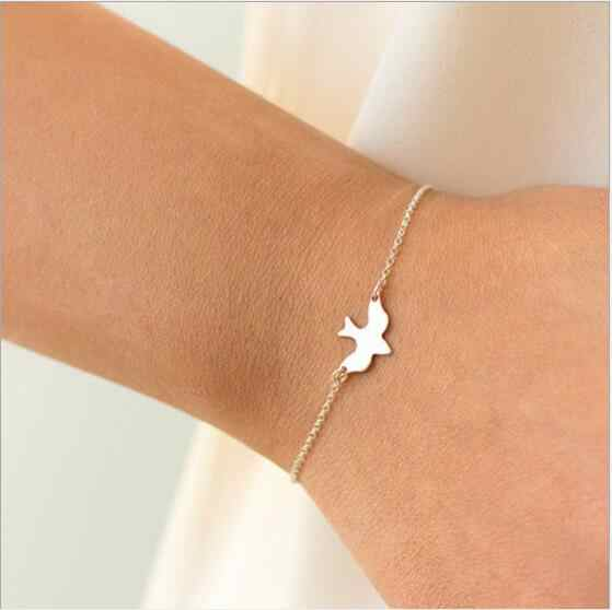 Tenande New Fashion Infinity Leaves Peace Dove Cross Simulated Pearl Bracelets & Bangles for Women Hot Sale Valentine's Day Gift