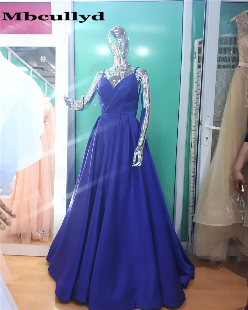 Mbcullyd Long Satin   Prom     Dresses   for Women Ruffled Floor Length Custom Made Gala Jurken Special Occasion Event for Women Wear