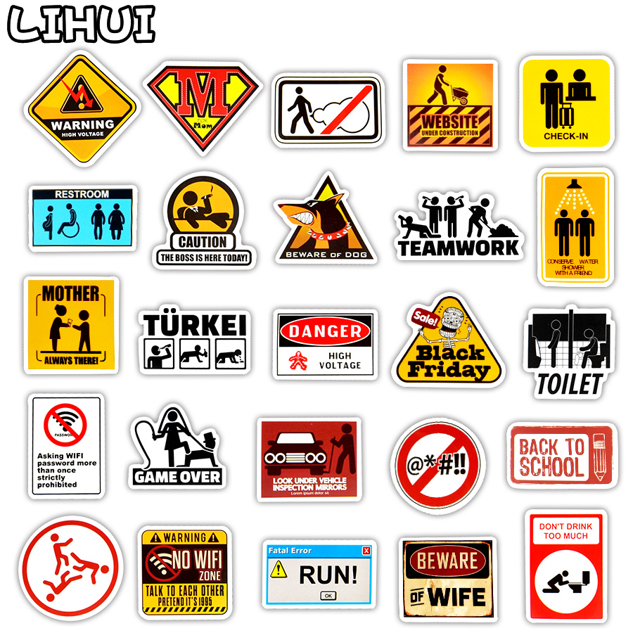 Aliexpress.com : Buy 50 PCS Signs Stickers Danger Warning