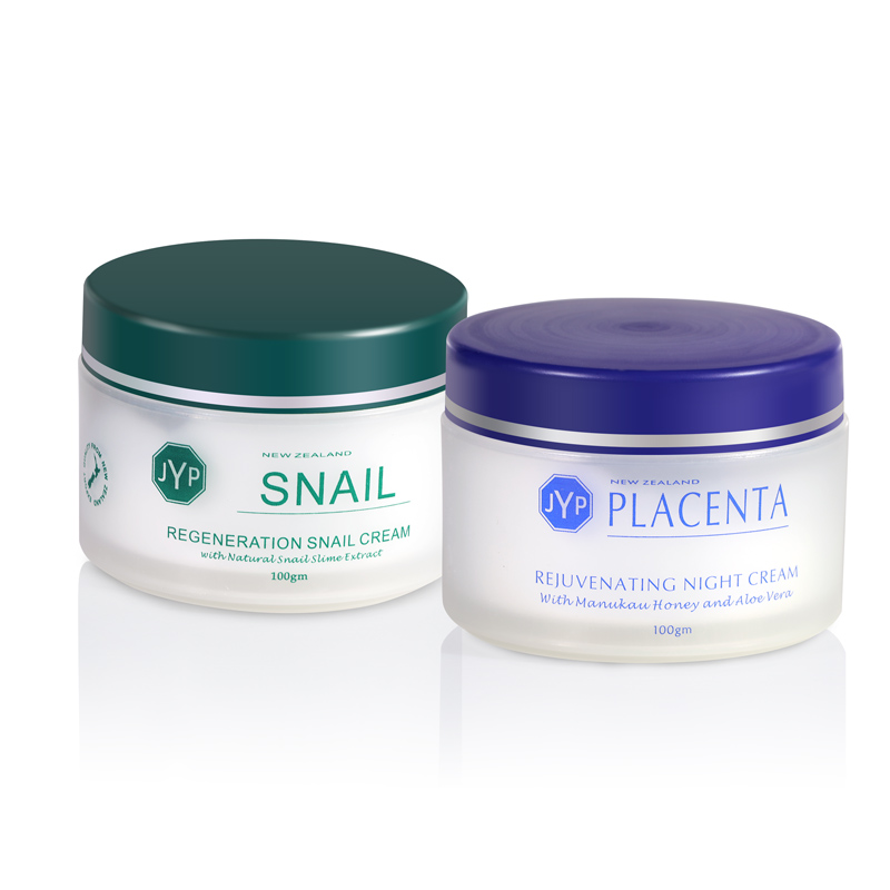 JYP Regeneration Snail Rejuvenating Sheep Placenta Day Night Face Care Moisturizer Nourishing Neck Body Moisturizing Touch Cream