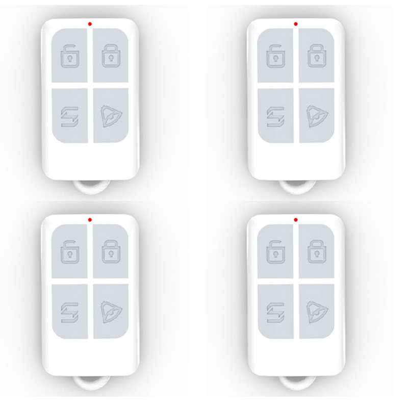 4pcs Wireless Intelligent Long Range Remote Control Controller Keychain Keyfobs 433MHz For Our Alarm System