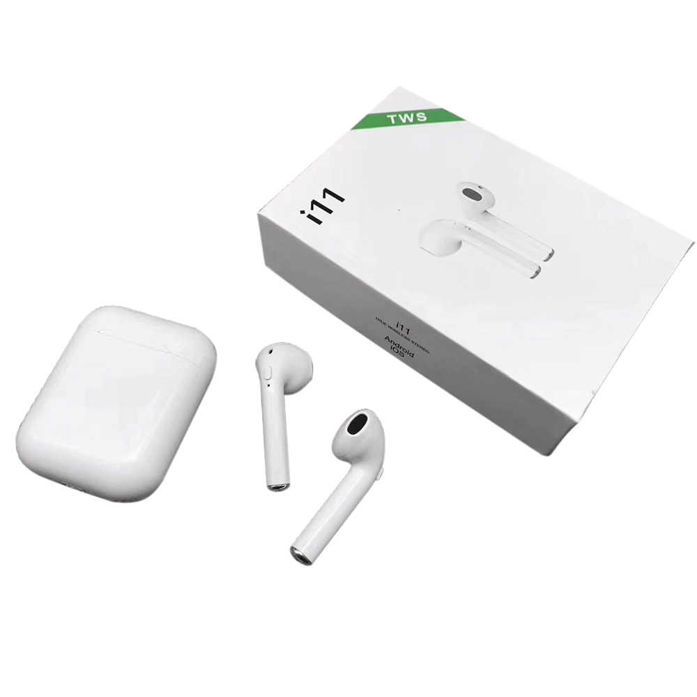 I11 Tws Bluetooth 5.0 Nirkabel Earphone Earpiece Mini Earbud I7s dengan MIC untuk iPhone X 7 8 Samsung S6 S8 xiaomi Huawei LG