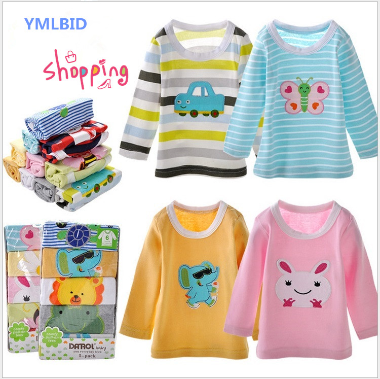 YMLBID 5 pz / lotto 2017 Neonato T-Shirt Ragazzi Ragazze Cotone A - Abbigliamento per neonato
