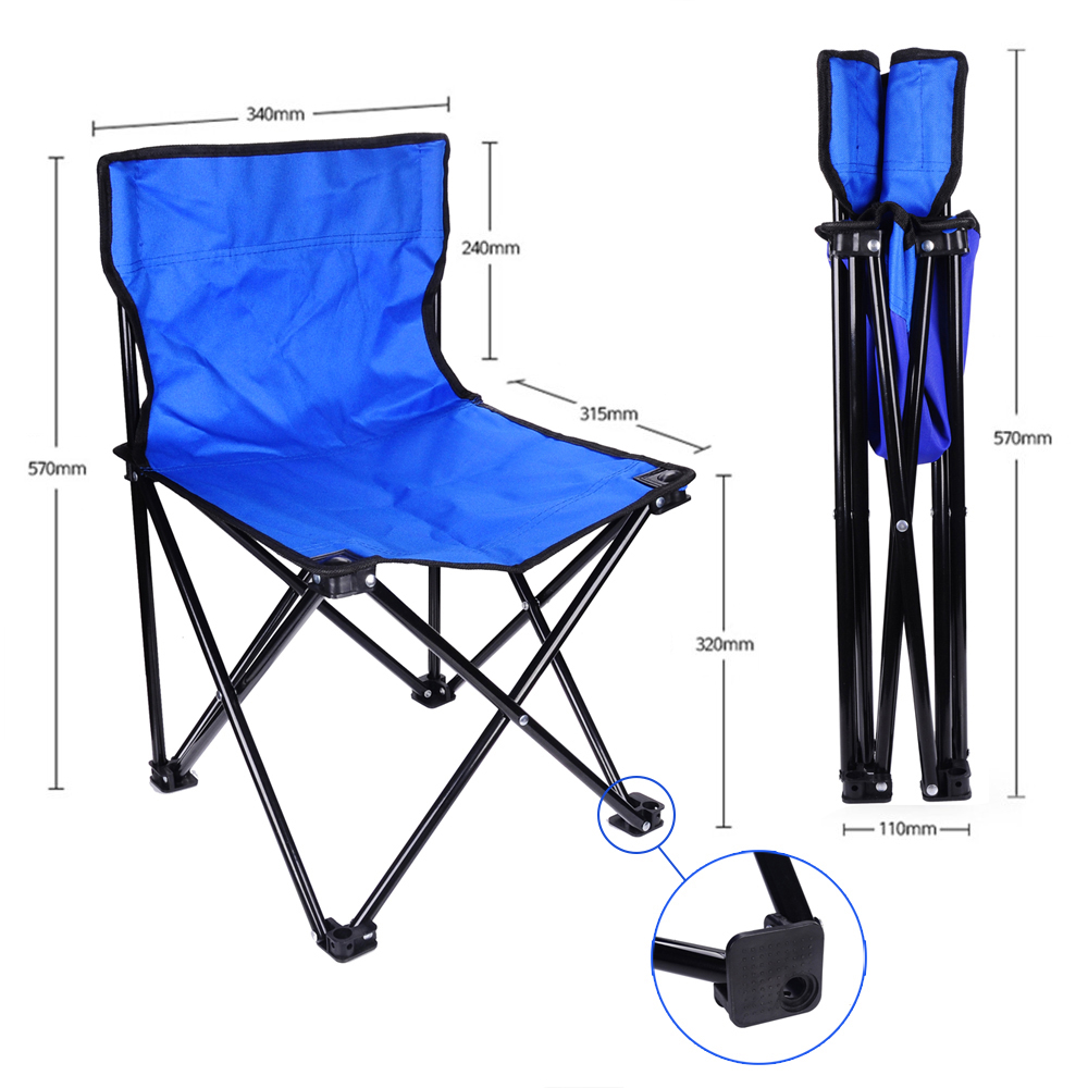 Light Folding Camping Fishing Chair Seat Portable Beach Garden Outdoor Camping Leisure Picnic Beach Chair