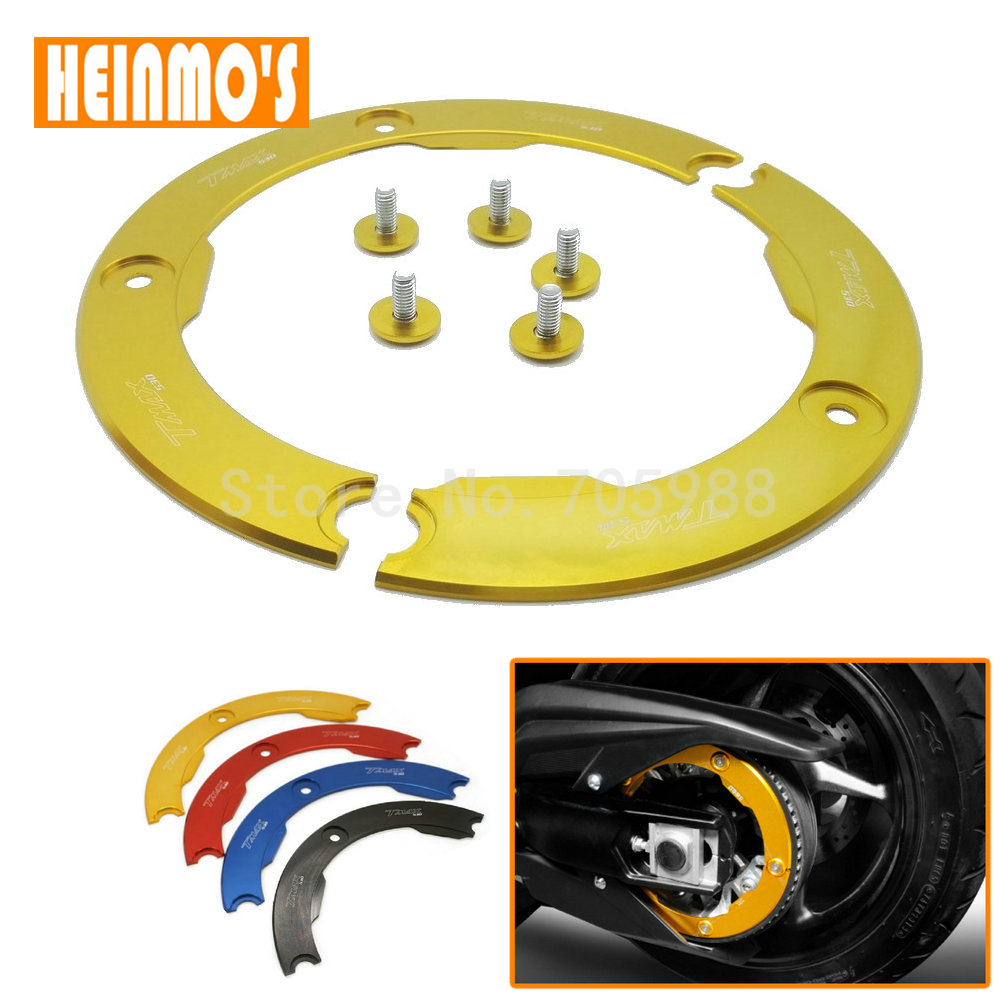 Gold Motorcycle Accessories CNC Aluminum Transmission Belt Pulley Protective Cover For Yamaha TMAX 530 2012-2015 motorcycle aluminum