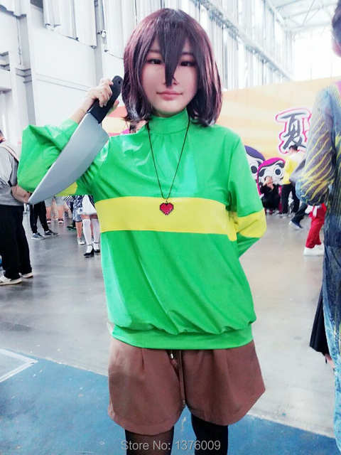 Chara and frisk cosplay