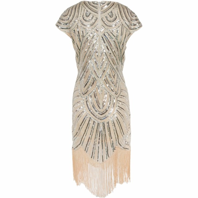 Diamond Sequined 1920s Tassel Dress