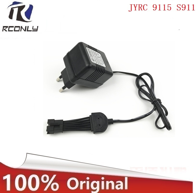 9.6v 1000mah charger for JYRC 9115 <font><b>S911</b></font> <font><b>RC</b></font> Car spare <font><b>parts</b></font> new version Battery Charger Units for 6P-SM Plug free shipping image