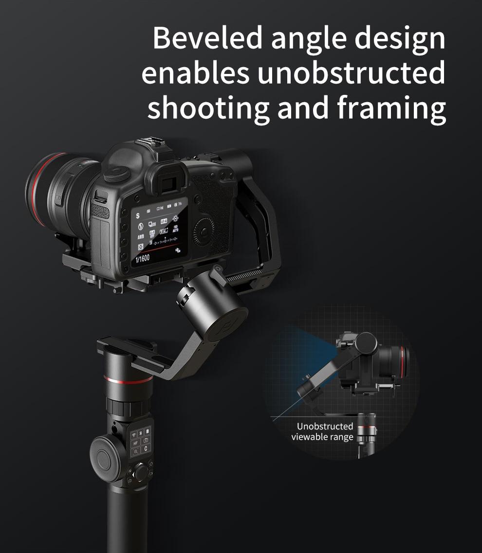 Image 2 - FeiyuTech AK2000 AK2000s 3 Axis Camera Stabilizer Gimbal for DSLRs Sony Canon 5D Panasonic GH5 Nikon 2.8 kg PayloadCardan à tenir à la main   -