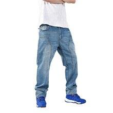Aboorun 2016 hip hop мужские мешковатые джинсы плюс размер шаровары джинсовые брюки скейтборд джинсы для мужчин p7015