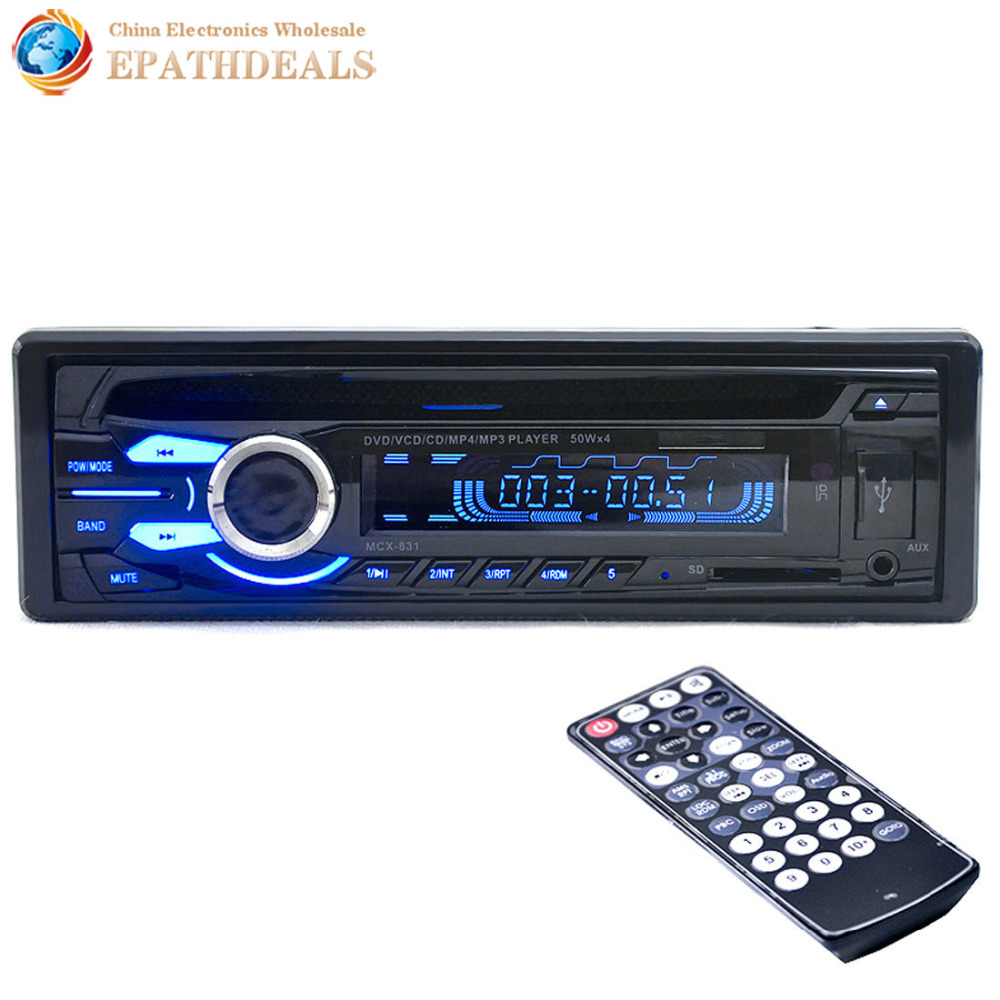 12V Auto Car Audio Stereo FM Radios DVD VCD CD CD-R CD-RW MP3 MP4 / Player Support USB / SD / MMC + Remote Control car usb sd aux adapter digital music changer mp3 converter for skoda octavia 2007 2011 fits select oem radios