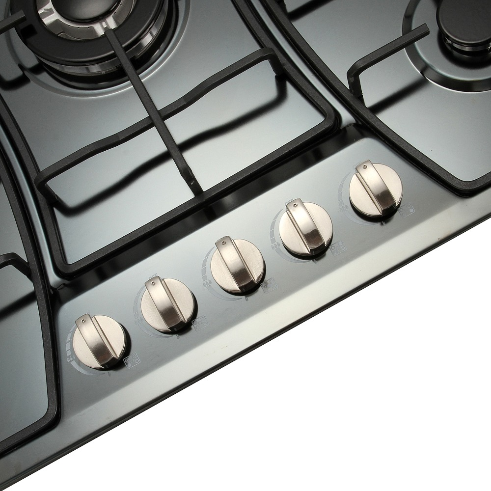 Appliances Brand METAWELL 30 Stainless Steel 5 Burners Gas Cooktops NG/LPG Built-In Stoves