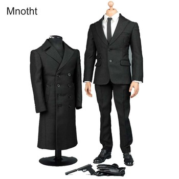 Mnotht 1/6 Solider James Bond 007 Secret Suit Overcoat V1006 Camisa + Pantalones + zapatos + guantes + corbata para 12 en acción figura de juguete l3