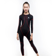 2019 New Fashion Swimming suits Kids Swimwears Long Sleeves Boys Girls Swimm Children One Pieces For Child