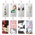 Hello Kity Duck Minion Kissing Mickey Ariel Mermaid Princess Snowman Olaf  Case Cover Case For Huawei P8 Lite Mini