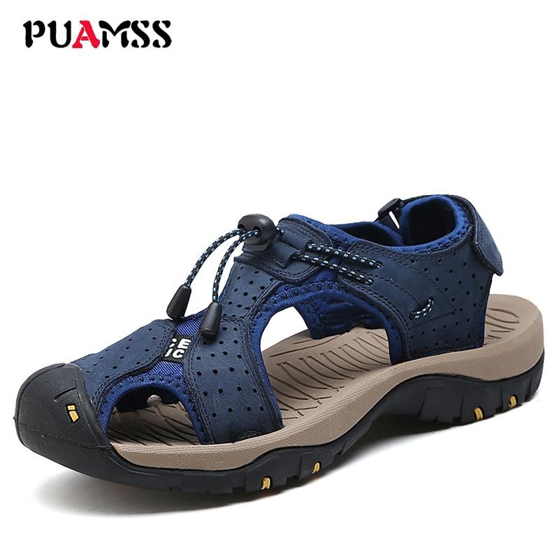 2017 nuevas sandalias de la playa de los hombres, zapatillas de cuero del zurriago de los zapatos transpirables , yellow , US 11(EUR 44)