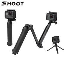 SHOOT 3 Way Grip Monopod Selfie Stick for GoPro Hero 6 5 4 Session Sjcam Sj4000