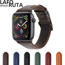 High Quality Genuine Leather Watchband For Apple Watch 42mm 38mm 44mm 40mm Bracelet  Sport Strap for Iwatch Series 1/2/3/4 недорго, оригинальная цена