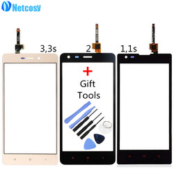 Netcosy Touch Screen Digitizer Front Touch Panel Glass Lens for Xiaomi Redmi 1 1s 2 3 3s TouchScreen Replacement Part +Tools