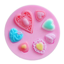 VOGVIGO 7 Holes Heart Silicone Mould Cupcake Wedding Cake Decorating Mold For Fondant Fimo Gum Paste Sugar Candy Chocolate