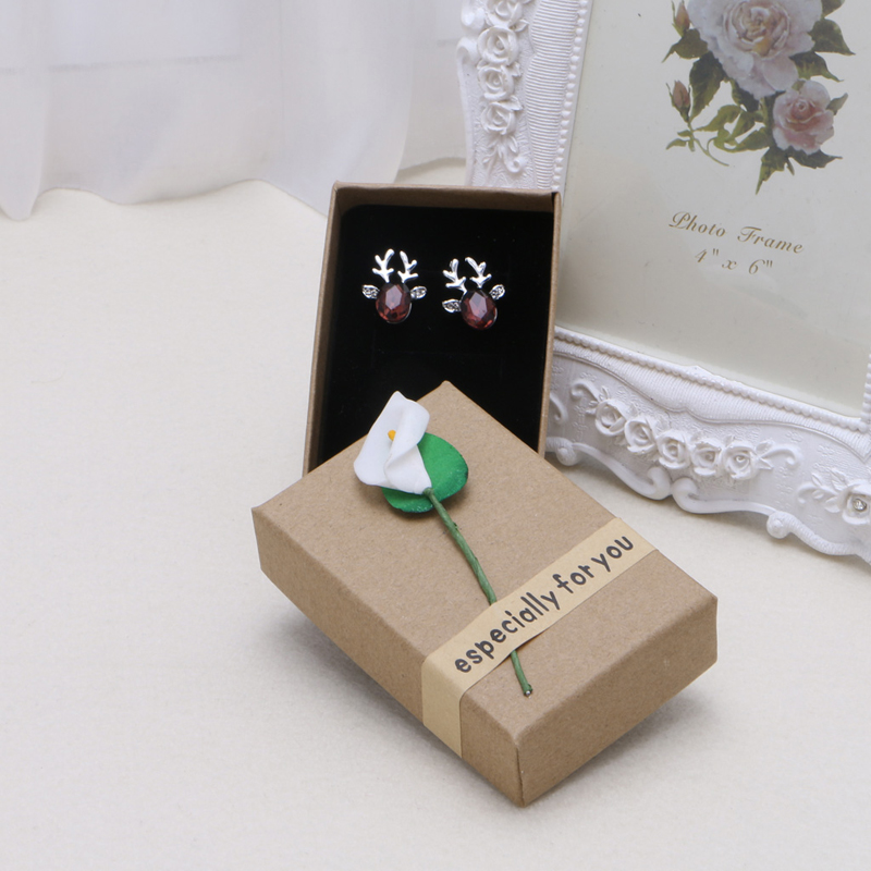 Necklace Ring Earring Jewellery Display Gift Storage Case Box Paper Cardboard #Y51#