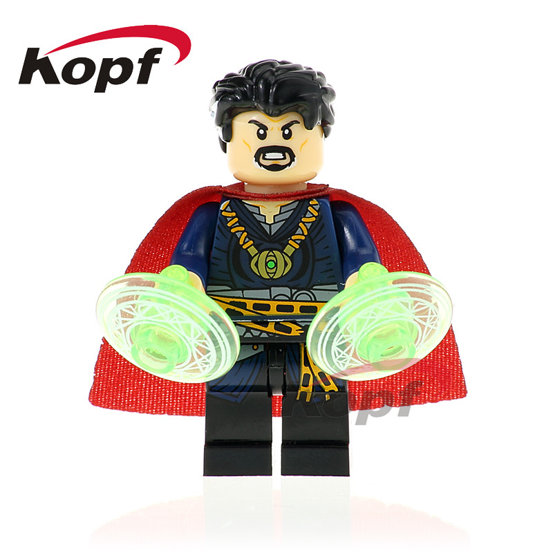 Single Sale Super Heroes Doctor Strange Iron Man Captain America Spiderman Bricks Building Blocks Children Gift Toys XH 825 sy687 super heroes captain america iron man thor hulk spiderman superman set building blocks bricks action children gift toys