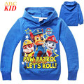 Spring Long Sleeve Shirt Boys Hoodies Sweatshirt Blue Hooded Shirt Tops Kids Patrulha Pata T Shirt Children Clothes KD257