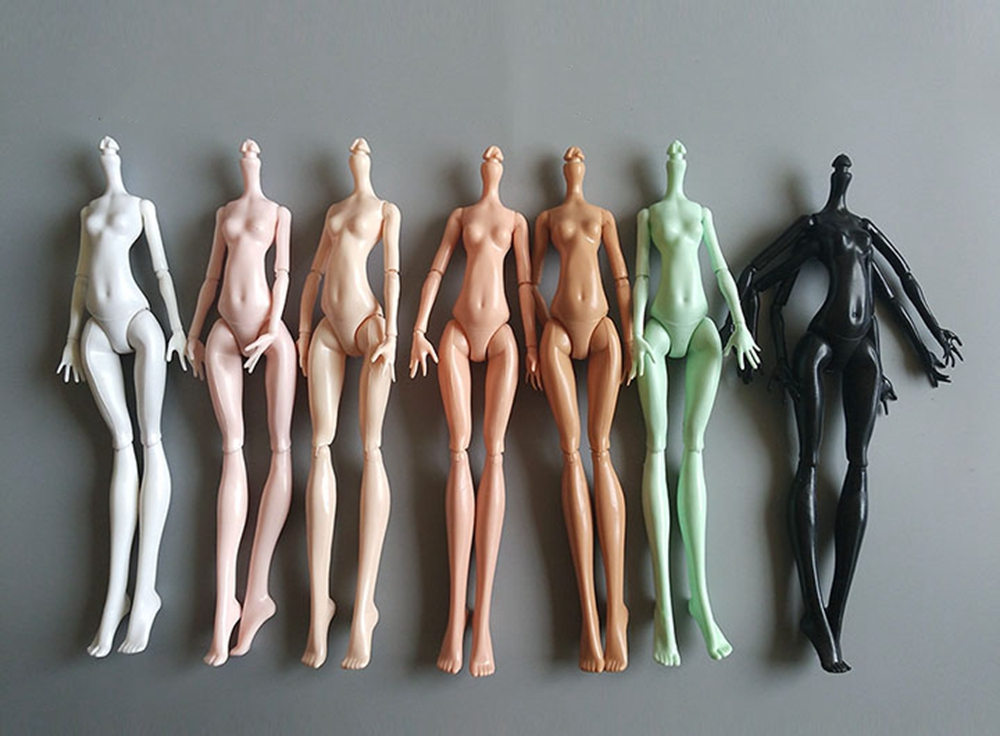 DIY 9Colors Imitation Demon Monster Dolls Naked Body Without Head For Monster High Dolls Fairytales 11 Joints Doll Bodies