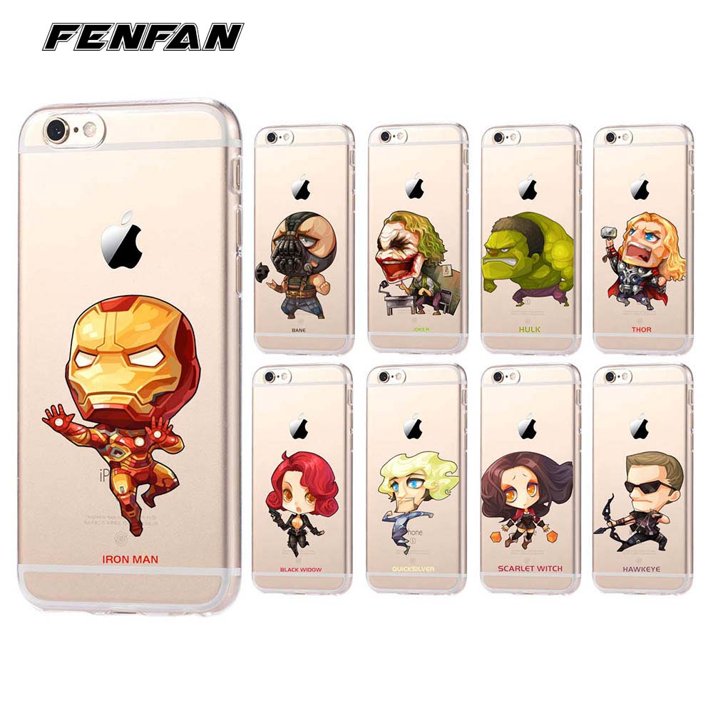 Soft silicone TPU The Avengers for <font><b>iPhone</b></font> 5S <font><b>case</b></font> 5 <font><b>5C</b></font> SE 6 6S 7 8 Plus cover new arrivals <font><b>original</b></font> for fundas <font><b>iPhone</b></font> X <font><b>case</b></font> image