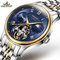 イソップ機械式時計男性腕時計高級ブランド発光防水時計の男性手首サファイアレロジオ masculin 2018