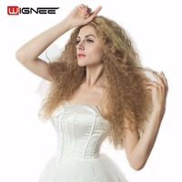 Mixed Color 30 22 613 Blonde Synthetic Hair Women Wigs Kinky Curly Perruque Afro Cosplay Hairstyles