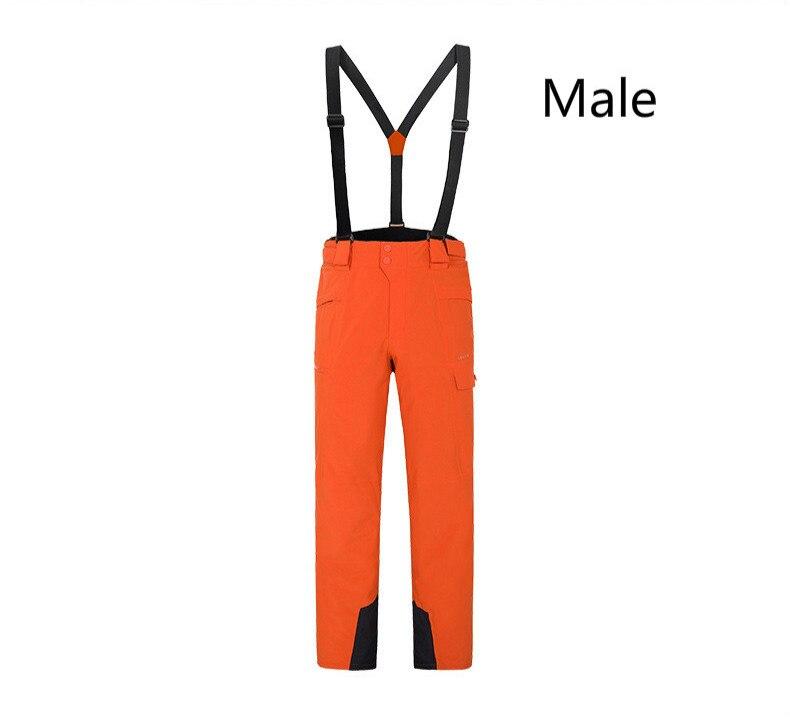 Hiver snowboard extérieur hommes femmes chaud résistant à l'usure imperméable coupe-vent pantalon de ski pantalon de ski avec bretelles