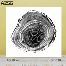AZSG Realistic Annual ring Clear Stamps/Seals For DIY Scrapbooking/Card Making/Album Decorative Silicone Stamp Crafts