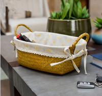 Free Shipping Hand Woven Storage Basket High Capacity Wicker Basket Countryside Bag Basket 2 Styles Can