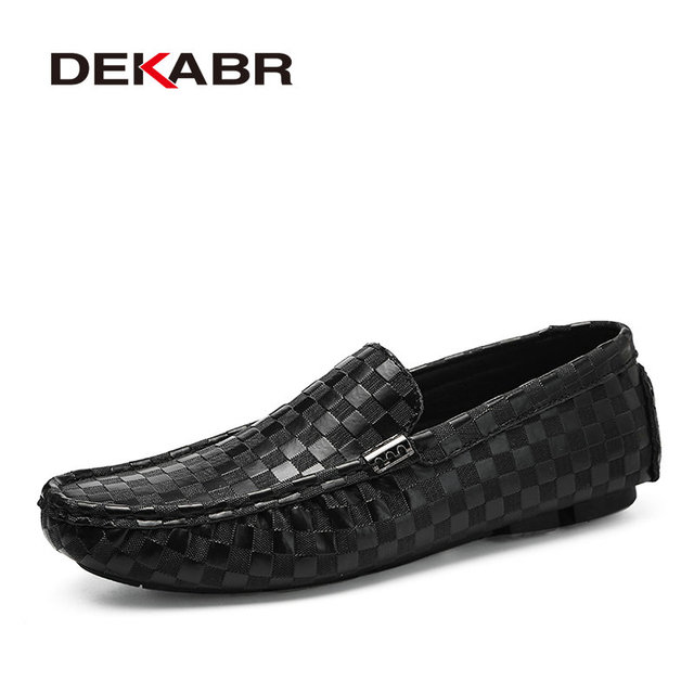 DEKABR High Quality Mens Shoes Fashion Comfortable Loafer Driving Shoes Boat Brand Flats Casual Shoes Men Large Size 38~47