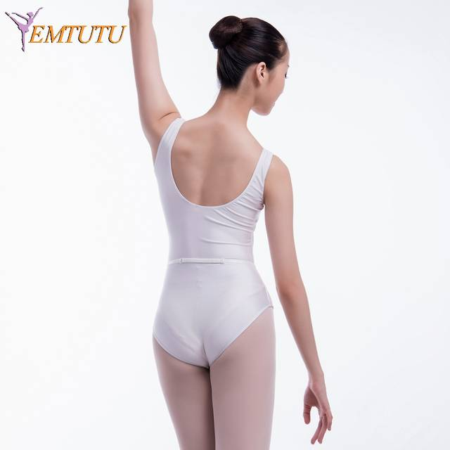 8b977f58414a Online Shop White Ballet Dance Leotard For Women RAD Ballet Belt ...