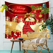 2019 New Year Christmas Wall Tapestry Santa Claus Polar Bear Witchcraft Tapestry Wall Hanging Hippie Boho Home Decor Tapiz Dorm