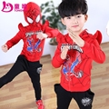 2017 children's spring clothing male child spring set children child clothes twinset 2pcs 3-12Y