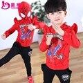 Primavera 2017 de los niños ropa masculina primavera niño niños ropa del niño twinset 2 unids 3-12Y