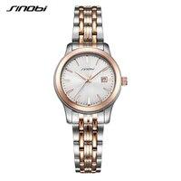 Luxury Lovers Couple Watches Men Waterproof Business Watch Women Casual Full Steel Quartz Wristwatch Clock SINOBI