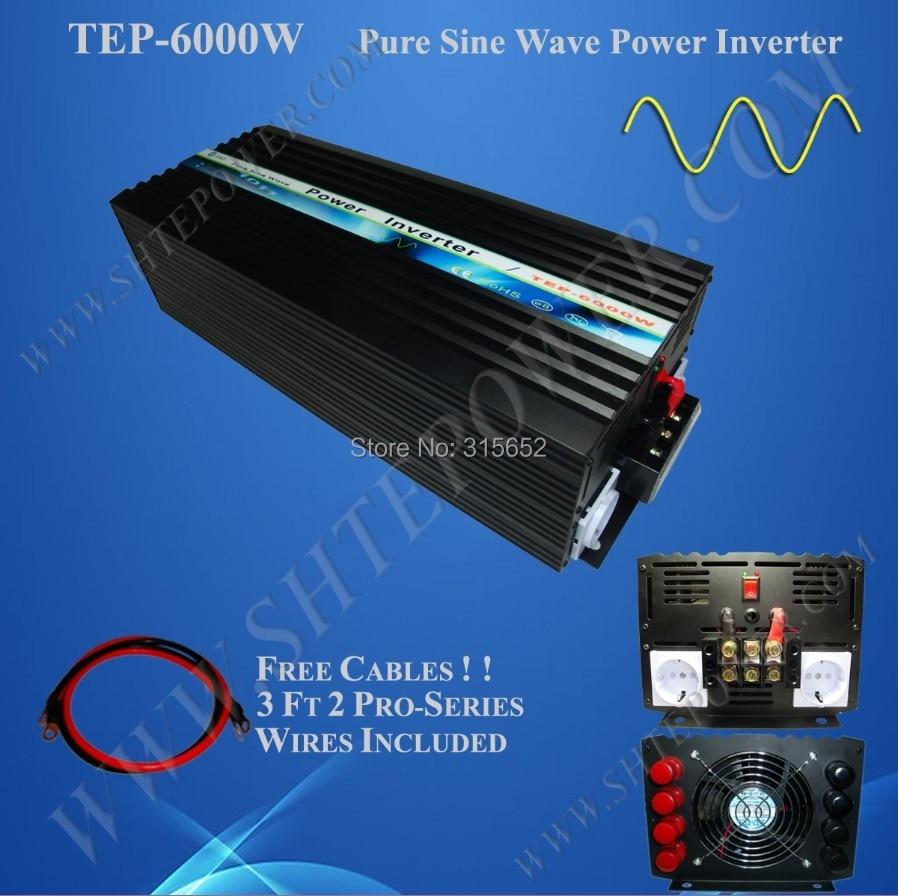6000 Вт DC 12 В к AC 230 В чистый синус Мощность инвертор 6kw