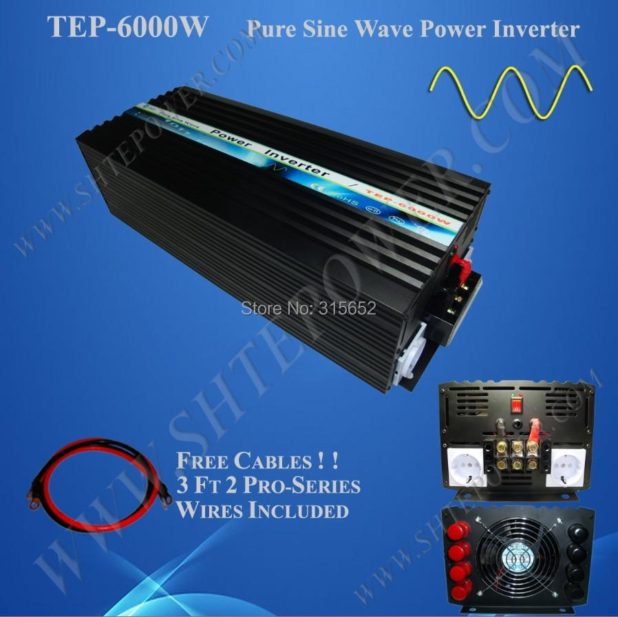 цена на 6000W DC 12V to AC 230V Pure Sine Power Inverter 6kw