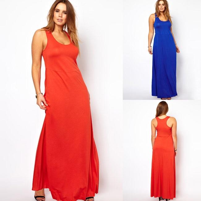 Women Tank Top Maxi Dress Casual Plus Size Women Clothing Female