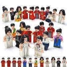 12 Pçs/set Figuras DIY estilo Do Casamento em países diferentes Blocos de Construção de Brinquedos Educativos para Crianças Conjunto Da Cidade Para As Crianças presentes