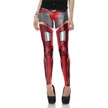 New Design Leggins Fashion 3D Red Legins Printed Women Leggings MECHA CosPlay ROBOT Comic Legging Fitness Pants KDK1567