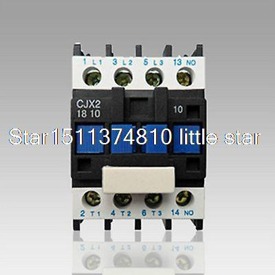 AC Contactor Motor Starter Relay (LC1) CJX2-1810 3P+NO 380/400V Coil 18A 7.5KW ac contactor motor starter relay lc1 cjx2 1201 3p nc 220 230v coil 12a 3kw