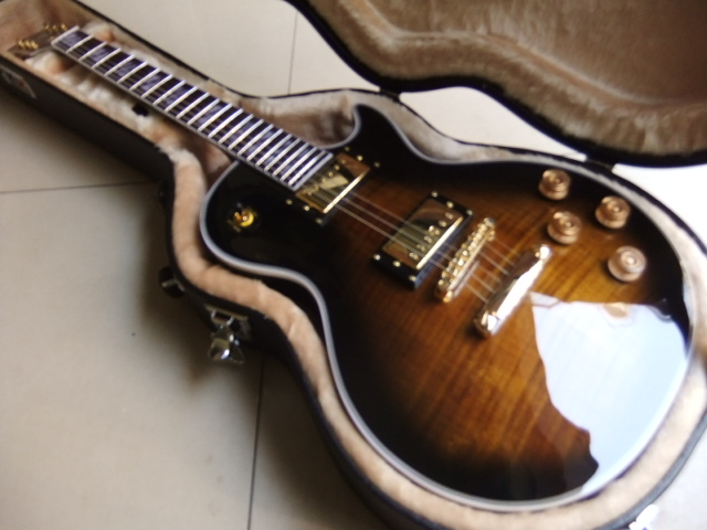 Free Hardcase LP Supreme electric guitar made ofl solid mahogany in brown burst 101116 new arrival cnbald lp supreme electric guitar top quality lp guitar in deep brown 110609 page 2