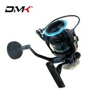 DMK 2500 5000 Size Spinning Reel 5.2:1/10+1BB/12 16kg Saltwater Lure Fishing Reel CNC Rotary Handle Graphite Body Pesca Wheel