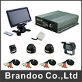 4CH SD CAR DVR complete kit, DIY installation for bus,taxi, trainning cars