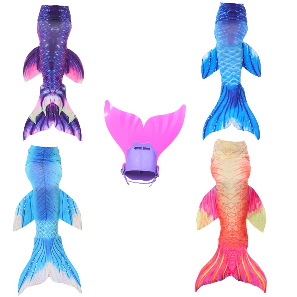 2017 New Birthday Gifts 2 piece Girls Summer Dress Factory unique design Outlet Swimming Mermaid Tail Dress Cosplay with Monofin fashion summer nap fish tail shape mermaid design knitting blanket